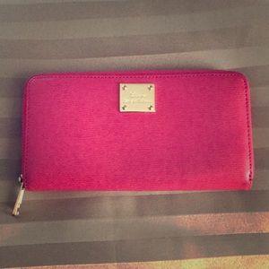 Ralph Lauren RLL canvas pink wallet.Like new!
